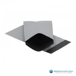 Papieren zakjes - Zilver / Zwart  Nr. 1740 - Vooraanzicht