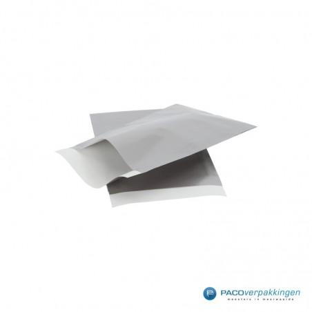 Papieren zakjes - Zilver glans met wit (Nr. 5024)