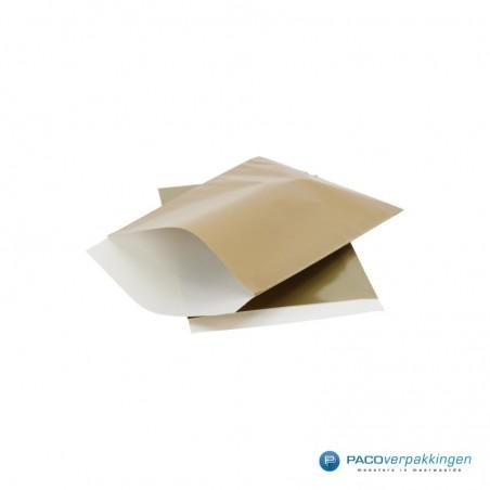 Papieren zakjes - Goud glans met wit (Nr. 5021)