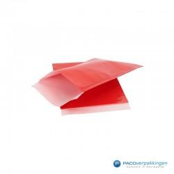 Papieren zakjes - Rood Glans - Zijaanzicht