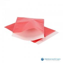 Papieren zakjes - Rood Glans - Vooraanzicht