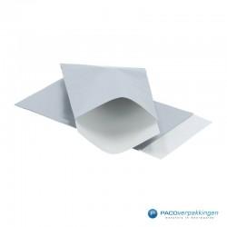 Papieren zakjes - Zilver Glans - Vooraanzicht