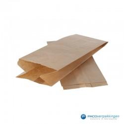 Papieren zakjes - 3 pond suiker - Bruin - Zijaanzicht