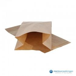 Papieren zakjes - 2 pond fruit - Bruin Kraft - Vooraanzicht