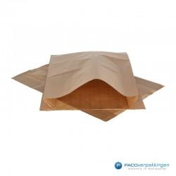 Papieren zakjes - Slazak 3 krop sla - Bruin - Vooraanzicht