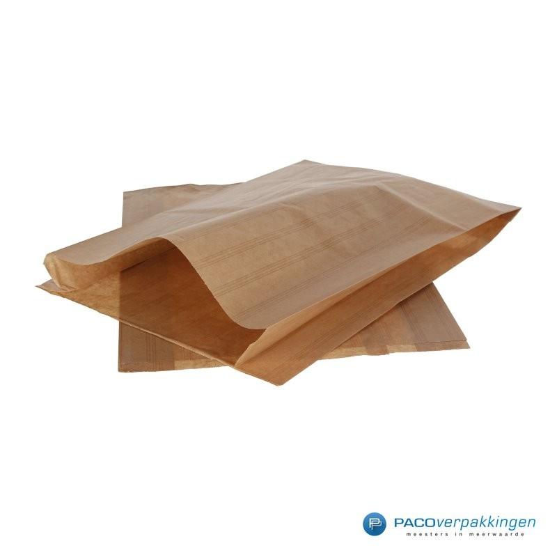 Papieren zakjes - Slazak 3 krop sla - Bruin - Zijaanzicht
