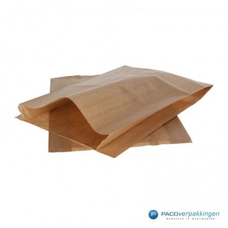 Papieren zakjes - Slazak 3 krop sla - Bruin