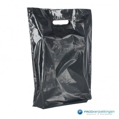 Plastic draagtassen - Zwart