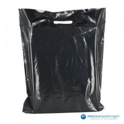 Plastic draagtassen - Zwart - Achteraanzicht