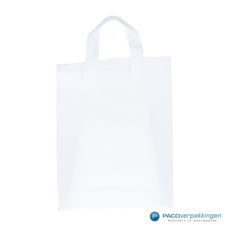 Plastic lusdraagtas - Semi-Transparant - Vooraanzicht