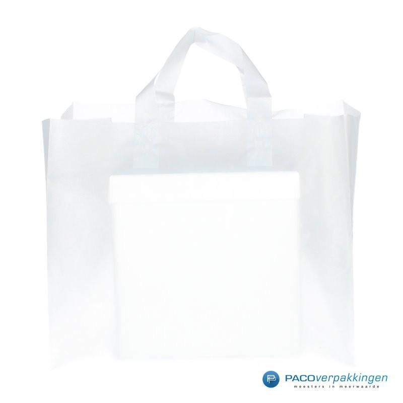 Plastic lusdraagtas - Semi-Transparant - Vooraanzich