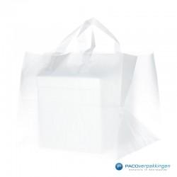 Plastic lusdraagtas - Semi-Transparant - Zijkant Vooraanzich