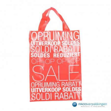 Plastic draagtassen - Sale - Wit