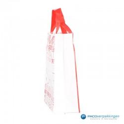 Plastic draagtassen - Sale - Wit - Zijaanzicht
