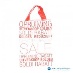 Plastic draagtassen - Sale - Wit - Achteraanzicht