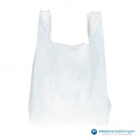 Plastic draagtassen - Wit - Shopper