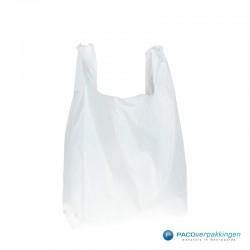 Plastic draagtassen - Wit - Shopper - Achteraanzicht