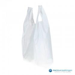 Plastic draagtassen - Wit - Shopper - Zijkant