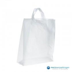 Plastic lusdraagtas - Semi-Transparant - Zijkant Vooraanzicht