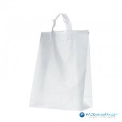 Plastic lusdraagtas - Semi-Transparant - Zijkant Achteraanzicht