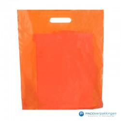 Plastic draagtassen - Oranje - Vooraanzicht