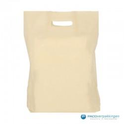 Plastic draagtassen - Recycle - Beige - 40 MU - Vooraanzicht