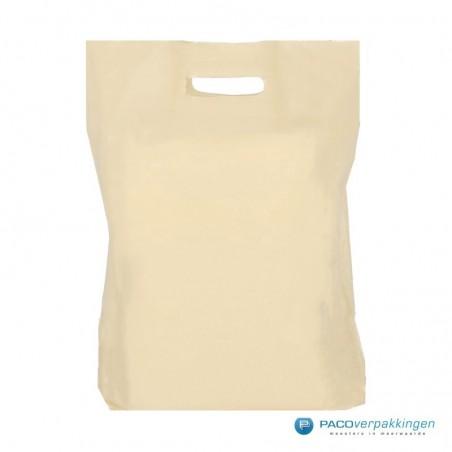 Plastic draagtassen - Recycle - Beige - 40 MU