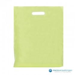 Plastic draagtassen - Groen - Vooraanzicht