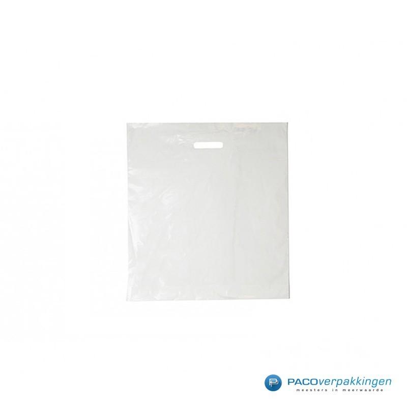 Plastic draagtassen - Wit - 40 MU - Vooraanzicht