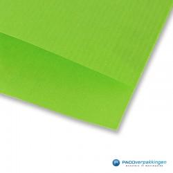 Papieren zakjes - Appelgroen Kraft - Detail