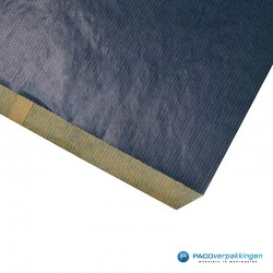 Papieren zakjes - Blauw Kraft - Detail