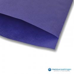 Papieren zakjes - Royal Blauw Kraft - Detail