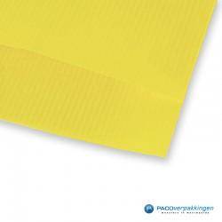 Papieren zakjes - Geel Kraft - Detail
