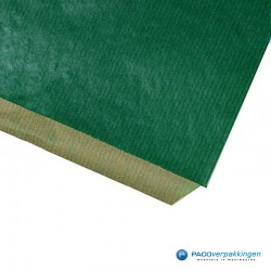Papieren zakjes - Groen Kraft - Detail