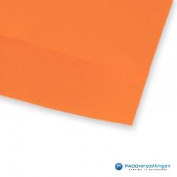 Papieren zakjes - Oranje Kraft - Detail