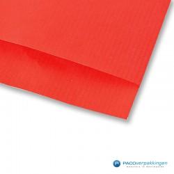 Papieren zakjes - Rood Kraft - Detail