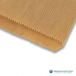 Papieren zakjes - Slazak 3 krop sla - Bruin - Detail