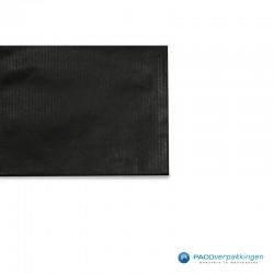 Papieren zakjes - Zwart Kraft - Detail