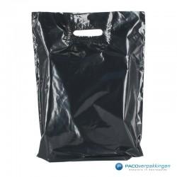 Plastic draagtassen - Zwart - Vooraanzicht