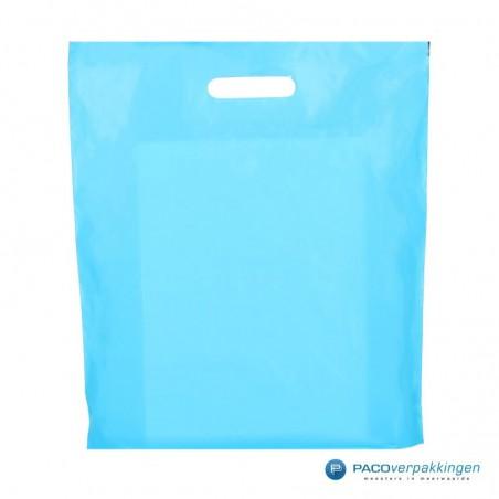 Plastic draagtassen - Lichtblauw