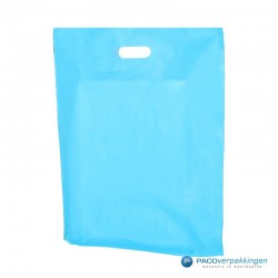 Plastic draagtassen - Lichtblauw - Achteraanzicht