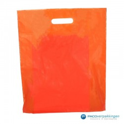 Plastic draagtassen - Oranje - Achteraanzicht