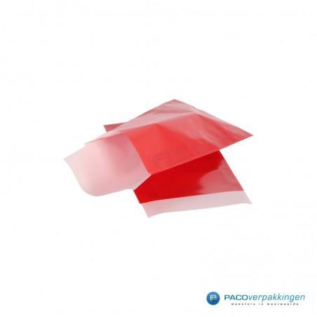Papieren zakjes - Rood glans met wit (Nr. 5020)