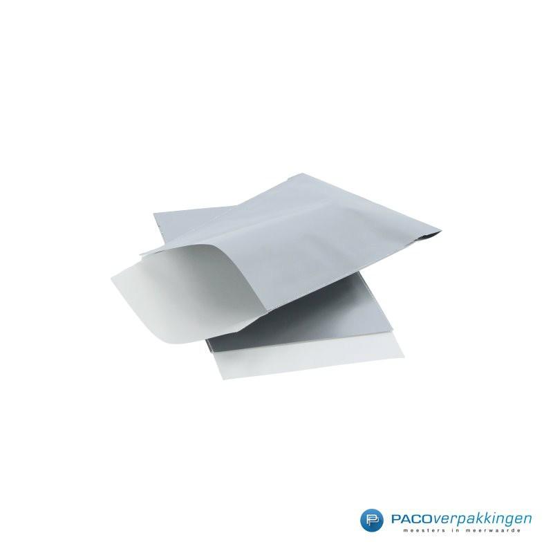 Papieren zakjes - Zilver Glans - Zijaanzicht