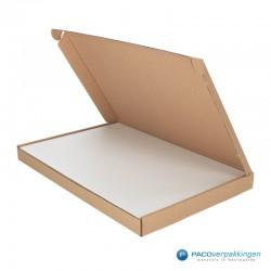 Magneetdoos - Luxe Brievenbusdoos - Wit Mat - Vooraanzicht - Toepassingsfoto