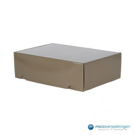 Postdozen met klepsluiting A4+ - Taupe Glans - Premium
