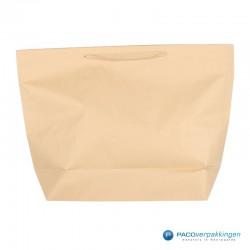 Papieren draagtassen - Bruin Kraft - Stevig - Vooraanzicht
