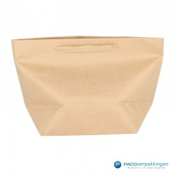 Papieren draagtassen - Bruin Kraft - Stevig - Achteraanzicht