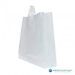 Plastic lusdraagtas - Semi-Transparant - Zijaanzicht