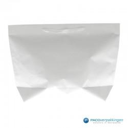 Papieren draagtassen - Wit - Stevig - Achteraanzicht